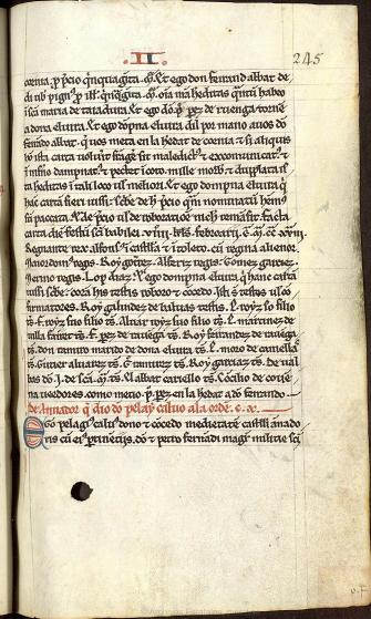 Tumbo Menor de Castilla, página 245. Archivo Histórico Nacional.